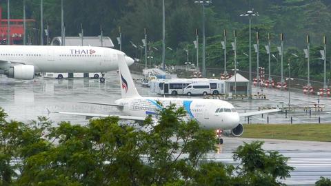 Bangkok Airways Airbus A320 before taking off Footage