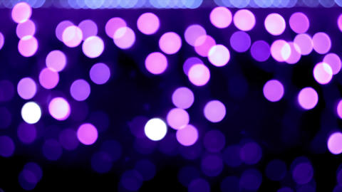 4K Bokeh Lights / Purple Bokeh / Bokeh Background. Violet Bokeh Randomly Footage