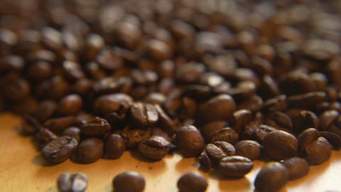 Up a Pile of Coffee Beans Footage
