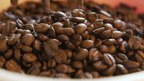 Coffee Beans Pile Up Live Action