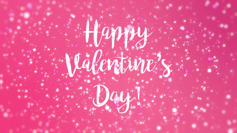 Romantic sparkly pink Happy Valentine's Day greeting... Stock Video Footage