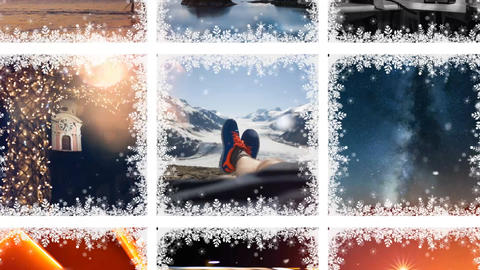 Simple Christmas Gallery After Effects Template