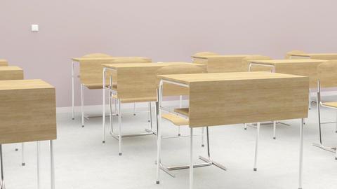 Empty Desks In Classroom Footage