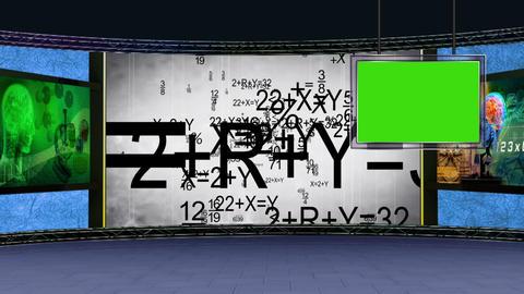 Education TV Studio Set 05 - Virtual Background Loop Footage