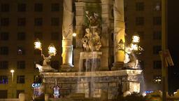 Beautiful fountain in the city center, architectural monument, famous landmark Footage
