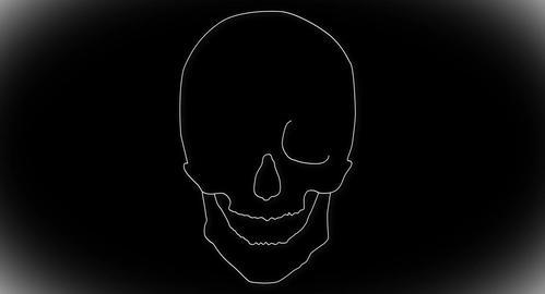 4K Human Skull 04 front Stock Video Footage