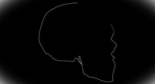 4K Human Skull 08 side Stock Video Footage