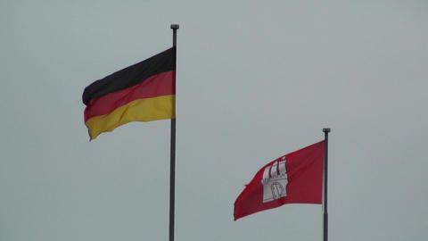 Flag of Germany and Hamburg Image