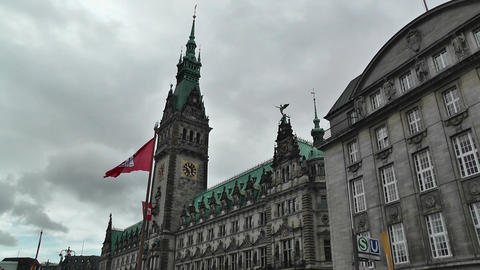 Hamburg City Hall 01 Stock Video Footage