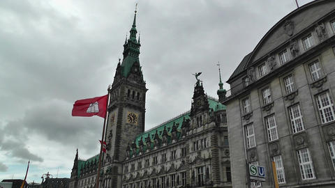 Hamburg City Hall 01 Footage