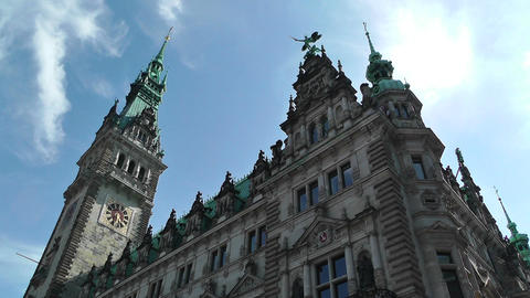 Hamburg City Hall 13 Stock Video Footage