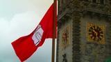 Hamburg City Hall 15 flag stylized Footage