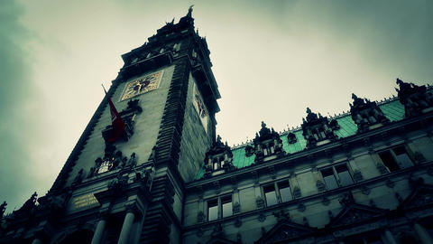 Hamburg City Hall 17 stylized Footage