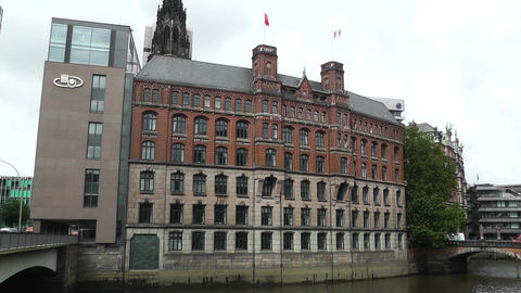 Hamburg Downtown 01 Stock Video Footage