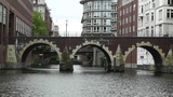 Hamburg Downtown 04 canal Footage