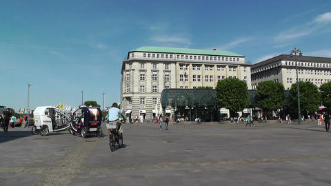 Hamburg Downtown 08 pan Stock Video Footage