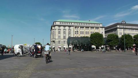 Hamburg Downtown 08 pan Stock Video Footage