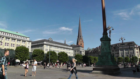 Hamburg Downtown 10 Stock Video Footage