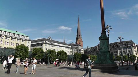 Hamburg Downtown 10 Stock Video Footage
