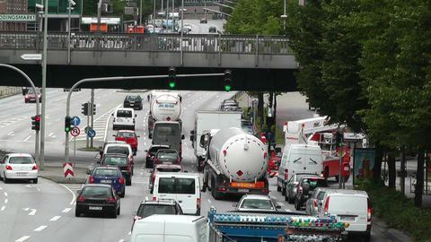Hamburg Street 03 traffic Stock Video Footage