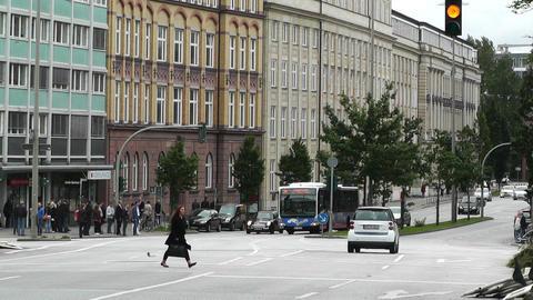 Hamburg Street 05 traffic Stock Video Footage