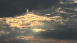 Lightrays Clouds Sunset Timelapse Footage