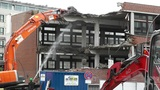Machine Destroying Building 03 with sound Footage