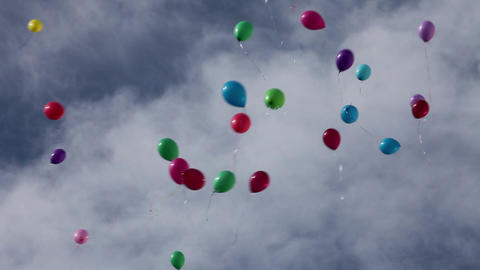 balloons in the sky Stock Video Footage