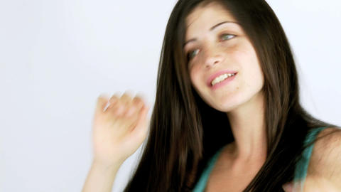 Female dancer happy moving sensually Stock Video Footage