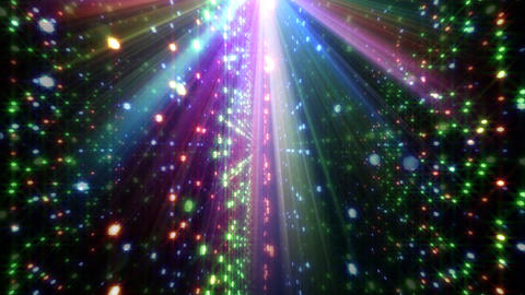 LED Light Space Hex 4p C 5 HD Stock Video Footage