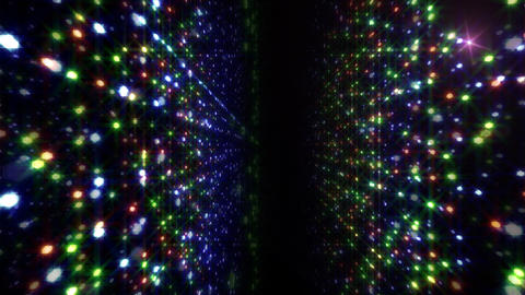 LED Light Space Hex 4p D 4 HD Stock Video Footage