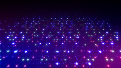 LED Light Space Hex 4t C 5 HD Stock Video Footage
