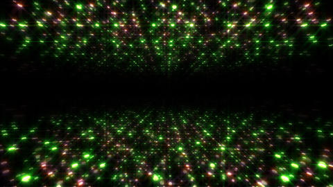 LED Light Space Hex 4u B 6 HD Stock Video Footage