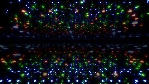 LED Light Space Hex 4u C 4 HD Stock Video Footage