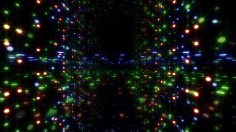 LED Light Space Hex 4u E 3 HD Stock Video Footage