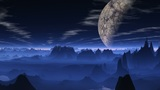 Flight over a blue planet Animation