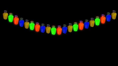 bulb lights loop alpha Stock Video Footage
