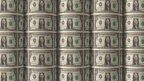 Dollar Rolls 03 Stock Video Footage