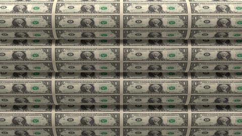 Dollar Rolls 01 Stock Video Footage