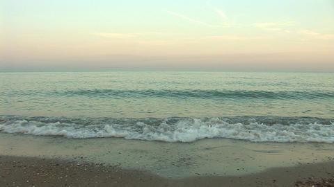 sunset waves b Stock Video Footage