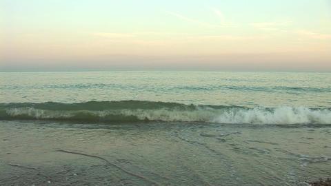 sunset waves b Footage
