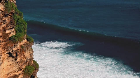 Uluwatu cliff loop Stock Video Footage