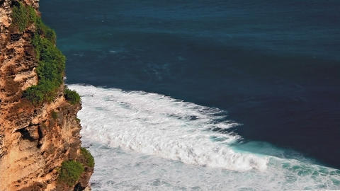 Uluwatu cliff loop Stock Video Footage