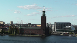 Stockholm City Hall and Central Railway Station Footage