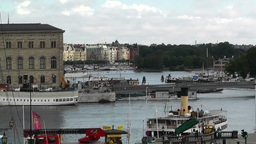 Stockholm Downtown 02 view from Gamla Stan Footage