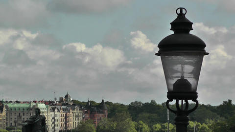 Stockholm Downtown 08 view from Gamla Stan Stock Video Footage