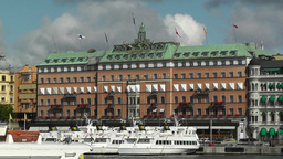 Stockholm Downtown 10 view from Gamla Stan Footage