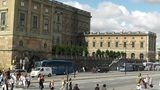 Stockholm Downtown 14 Royal Palace in Gamla Stan Footage