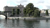 Stockholm Downtown 19 Swedish Parliament stock footage