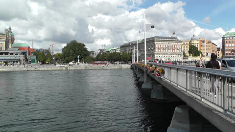 Stockholm Downtown 21 Stock Video Footage